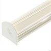 Corotherm Glazing Bar Cap & Base with End Cap - White - 6000mm