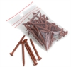 Lightweight Tiles Plastic Coated Fixing Screws - Red/Brown (pack of 40)
