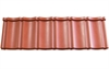Lightweight Tiles Ungranulated Budget Tile - Red - 118cm x 36cm