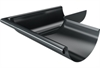 Roofart Scandic Prelaq Steel 90º External Gutter Corner - Dark Grey - 125mm