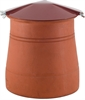 Brewer Round Chimney Capper - Bolt Fixing - Terracotta Painted