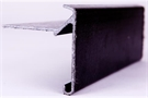 V Trim GRP Roof Edge Trim - V55/60 - 55mm x 60mm x 2.5m - Black