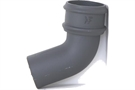 Hargreaves Cast Iron Round Pipe Bend - Premier Primed Grey - 112.5º - 65mm