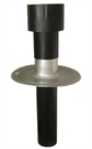 Ubbink OFT-5 Insulated Flat Roof Vent Terminal - 125mm - Bitumen