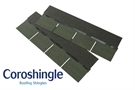Coroshingle Light Roofing Shingles Green (2m² Pack)
