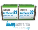 Knauf Earthwool DriTherm 32 Ultimate Insulation Board - 1200mm x 455mm x 85mm (2.73m²)
