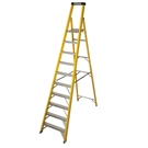 10 Tread S400 Fibreglass Heavy Duty Platform Stepladder