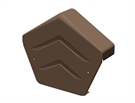 Manthorpe SmartVerge Universal Dry Verge Angled Ridge End Cap - Brown