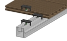 Aslon Decking Terrace System Fastening Clip