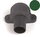 Brett Martin Cascade Round Downpipe Coupler with Lugs - 68mm - Olive Green