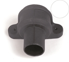 Brett Martin Cascade Round Downpipe Coupler with Lugs - 68mm - Porcelain White