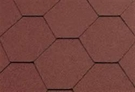 Katepal Super Classic KL Hexagonal Bitumen Roofing Shingles - Red - 3m²