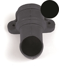 Brett Martin Cascade Round Downpipe Shoe with Lugs - 68mm - Black