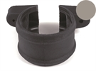 Brett Martin Cascade Push-Fit Soil Downpipe Socket Shroud with Lugs - 110mm - Graphite Grey