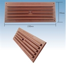 "Klober Standard Face Fit Vent - 9"" x 3"" - Brown - Pack of 30"