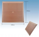 "Klober Standard Face Fit Vent - 9"" x 9"" - Brown - Pack of 30"