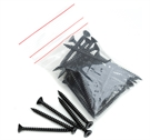 Lightweight Tiles Plastic Coated Fixing Screws - Black (pack of 40)