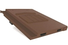 Manthorpe In Line Tile Vent - Non-Profile Tiles - Dark Brown
