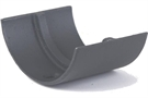 Hargreaves Cast Iron Plain Half Round Union Clip - Premier Primed Grey - 115mm