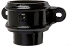 Hargreaves Cast Iron Round Eared Loose Socket with Spigot - Premier Extra Black Gloss - 65mm