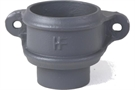Hargreaves Cast Iron Round Plain Loose Socket with Spigot - Premier Primed Grey - 65mm