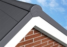 Manthorpe Linear Dry Verge Unit - Right Hand - Slate Grey