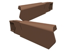Manthorpe SmartVerge PVCu Dry Verge Unit - Right Hand - Dark Brown