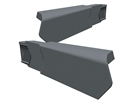 Manthorpe SmartVerge PVCu Dry Verge Unit - Right Hand - Slate Grey