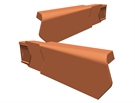 Manthorpe SmartVerge PVCu Dry Verge Unit - Right Hand - Terracotta