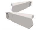 Manthorpe SmartVerge PVCu Dry Verge Unit - Right Hand - White