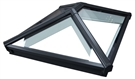 Korniche Glass Lantern Rooflight with Ambi Neutral Tint & Black/White 100x200cm