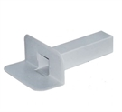 Rectangular Through Wall Roof Drain - PVC - 100x65mm