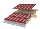 Roofart Double-Module Umbrella Metal Tile - Brick Red