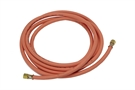 Orange Propane Hose with Crimps & Fittings - 8mm x 10m