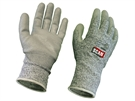 Scan Grey PU Coated Cut 5 Liner Gloves - Large