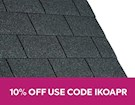 IKO Armourglass Square Butt Shingles - Black - Pack of 21 - 3m²