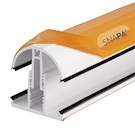 Snapa Snap-Fix Lean-to Glazing Bar - 3m - For Axiome Glazing - White