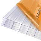 Axiome Clear Flat Multiwall Polycarbonate Sheet - 1050mm x 25mm x 3000mm