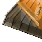 Axiome Bronze Flat Multiwall Polycarbonate Sheet - 840mm x 25mm x 2000mm