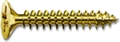 SPAX Countersunk Pozi Drive Yellow Screws - 100mm x 6mm - Pack of 100