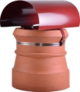 Brewer Bonnet Cowl Chimney Cowl - Terracotta Painted