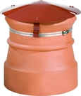 Brewer Round Chimney Capper - Strap Fixing - Terracotta Painted