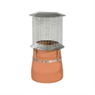 Brewer Spark Arrestor Chimney Cowl - 150mm - 250mm - Black Painted