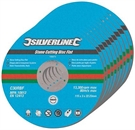 Silverline Stone Cutting Discs Flat - 115mm x 3mm - Pack of 10
