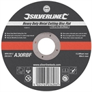 Silverline Heavy Duty Metal Cutting Disc Flat - 115mm x 3mm