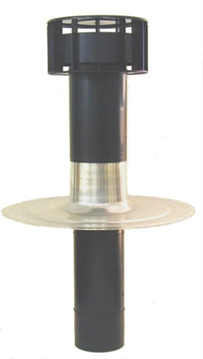 Ubbink OFT-4 Twin Wall Flat Roof Vent Terminal - 131mm - EPDM