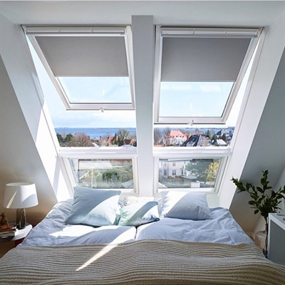 VELUX GPU FK06 0070 White PU Laminated Top Hung Roof Window 66x118cm