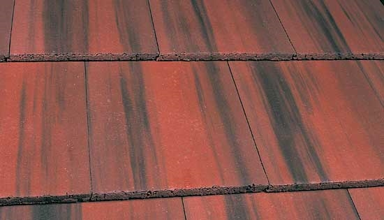 Marley Concrete Interlocking Tile 355 - Edgemere Slate - Old English Dark Red