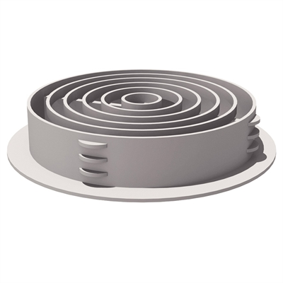 Manthorpe G700 Circular Soffit Vent - Pack of 50 - White