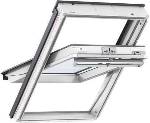 VELUX GGL CK01 2070 White Paint Laminated Centre Pivot Roof Window 55x70cm